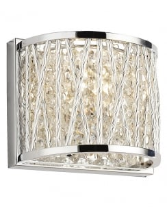 Paul Neuhaus Lefes Crystal Chrome Decorative Wall Light 9010-17