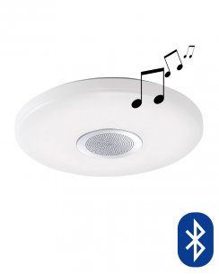 Paul Neuhaus Pelvo Modern White Flush Bluetooth Speaker Ceiling Fitting 8081-16