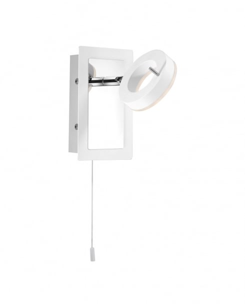Paul Neuhaus Sileda Modern White Bathroom Wall Fitting 9785-16