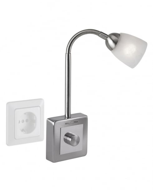 Paul Neuhaus Plug-In Modern Steel Socket Light 1290-55