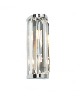 Saxby Crystal 2 Light  Bathroom Wall Fitting 39629