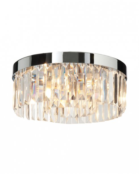 Saxby Crystal 5 Light Crystal Bathroom Ceiling Fitting 35612