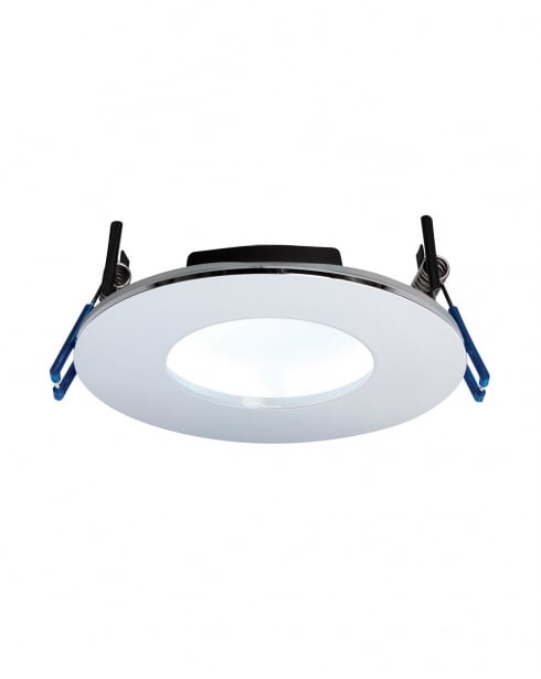Saxby OrbitalPLUS Modern Chrome Recessed Bathroom Light 69885