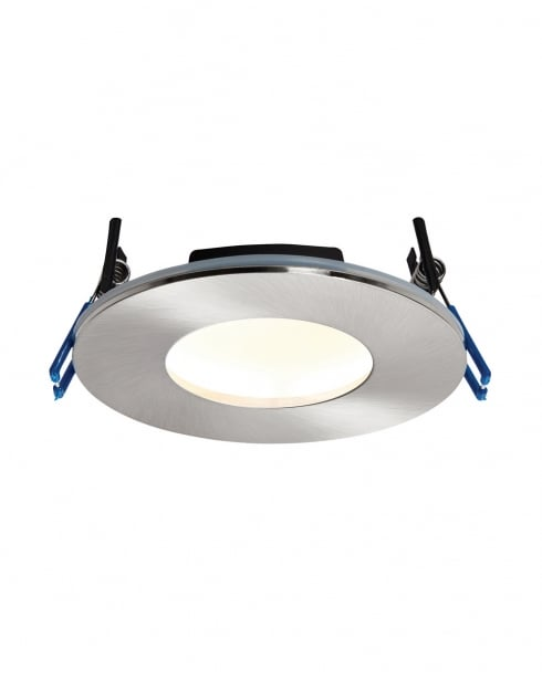 Saxby OrbitalPLUS Modern Nickel Recessed Bathroom Light 69881