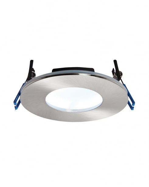 Saxby OrbitalPLUS Modern Nickel Recessed Bathroom Light 69884