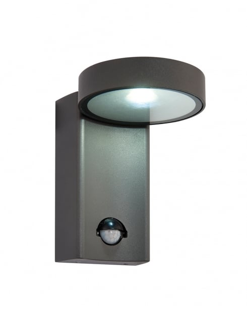 Saxby Oreti PIR Modern Black Security Light 67696