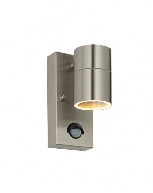 Saxby Palin PIR Modern Steel Security Light 70431