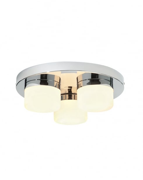 Saxby Pure 3 Light Modern Bathroom Ceiling Fitting 34200