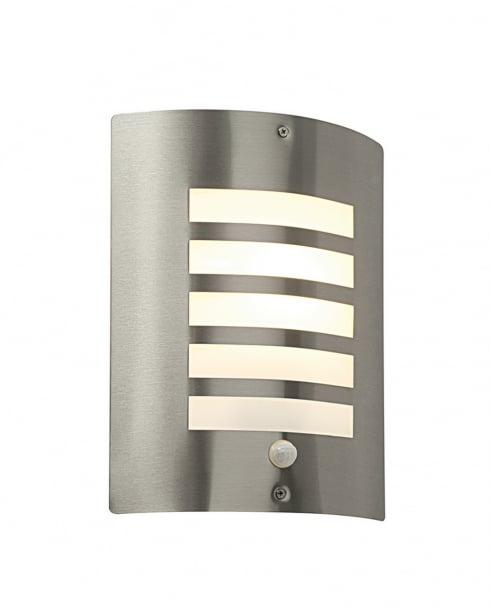 Saxby Bianco Single Light Modern Security Light ST031FPIR