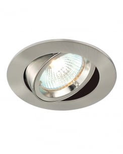 Saxby Cast Single Light Modern Recessed Ceiling Light 52333