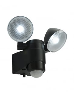 Saxby Laryn PIR Modern Black Battery Operated Security Light 54409