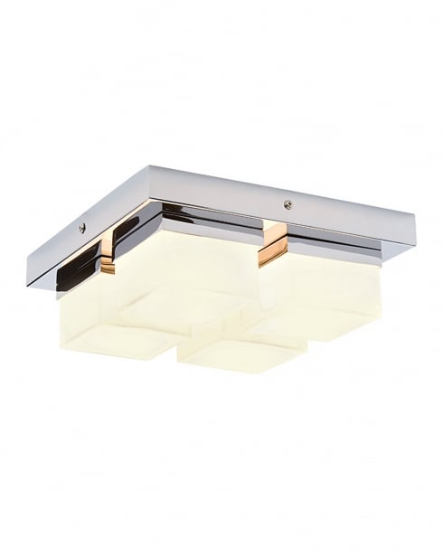 Saxby Square 4 Light Modern Bathroom Ceiling Fitting 34277