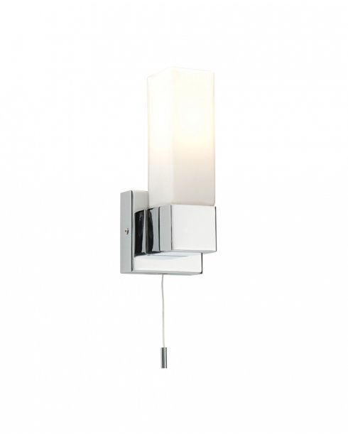Saxby Square Single Light  Bathroom Wall Fitting 39627