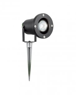 Searchlight 5001BK-LED Single Light Modern Outdoor Lawn Spike