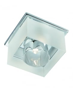 Searchlight 8050R-1CC Modern Chrome Recessed Ceiling Light