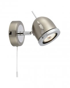 Searchlight Alantis Single Light Modern Wall Mounted Spotlight 4921SS