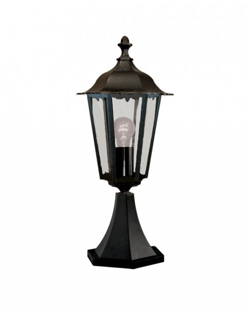 Searchlight Alex Single Light Traditional Outdoor Light Post 82503BK