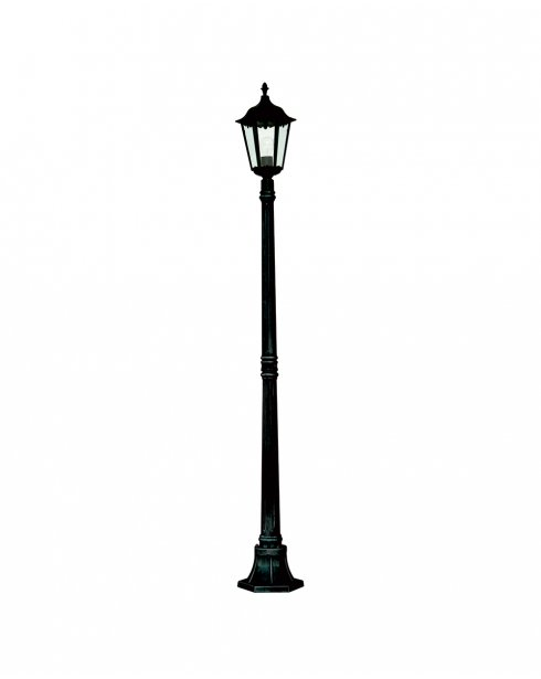 Searchlight Alex Single Light Traditional Outdoor Light Post 82508BK