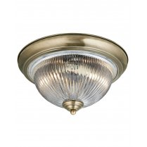 Searchlight American Diner 2 Light Traditional Flush Ceiling Fitting 4370
