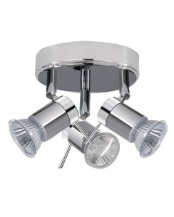 Searchlight Aries 3 Light Modern Bathroom Ceiling Fitting 7443CC-LED