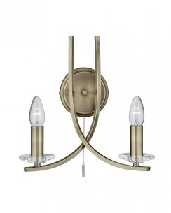 Searchlight Ascona 2 Light Modern Decorative Wall Light 4162-2AB