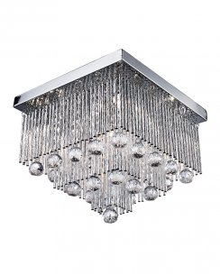 Searchlight Beatrix 5 Light Crystal semi-flush Ceiling Fitting 6055-5CC