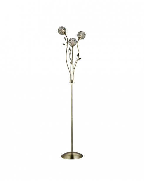 Searchlight Bellis II 3 Light Crystal Decorative Floor Lamp 3573AB