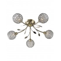 Searchlight Bellis II 5 Light Crystal Multi-Arm Pendant 6575-5AB