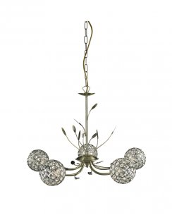 Searchlight Bellis II 5 Light Modern Multi-Arm Pendant 5575-5AB