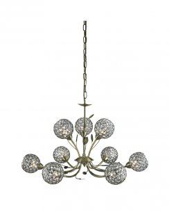 Searchlight Bellis II 9 Light Modern Multi-Arm Pendant 5579-9AB
