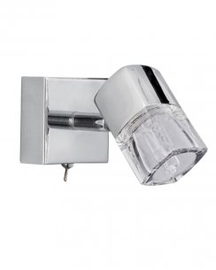 Searchlight Blocs Single Light Modern Wall Mounted Spotlight 9881CC