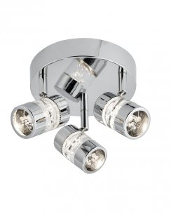 Searchlight Bubbles 3 Light Modern Bathroom Spotlight Fitting 4413CC