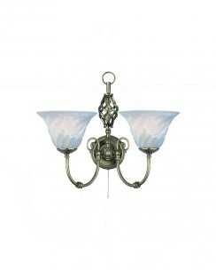 Searchlight Cameroon 2 Light Traditional Decorative Wall Light 972-2