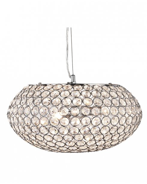 Searchlight Chantilly 3 Light Crystal Pendant Light 7163-3CC