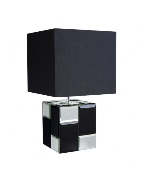 Searchlight Chequered Incidental Table Lamp 0371BK