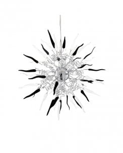 Searchlight Chilli Pendant Light 5306-6BK
