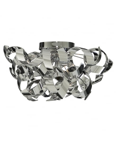 Searchlight Curls Flush Ceiling Fitting 4973-3CC