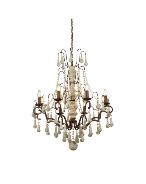 Searchlight Dauphin Chandelier 6938-8BR
