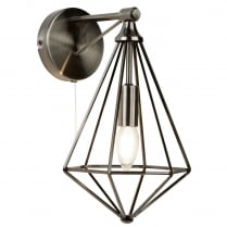 Searchlight Diamond Decorative Wall Light 2541SI