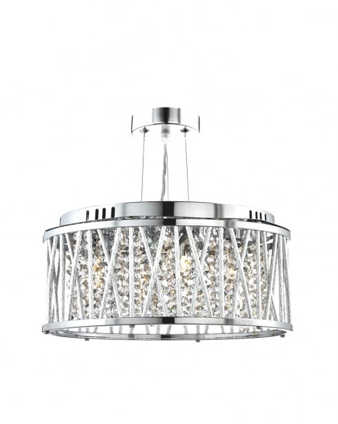Searchlight Elise 3 Light Crystal Pendant Light 8333 3CC