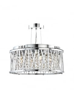 Searchlight Elise 3 Light Crystal Pendant Light 8333-3CC