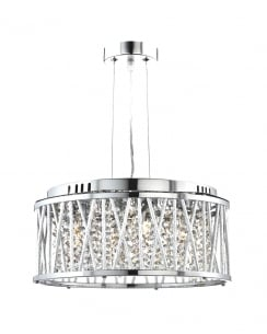 Searchlight Elise 4 Light Crystal Pendant Light 8334-4CC