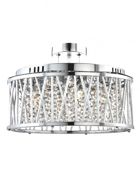 Searchlight Elise 5 Light Crystal Pendant Light 8335-5CC
