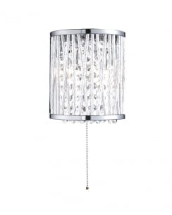 Searchlight Elise Crystal Chrome Decorative Wall Light 7222-2CC