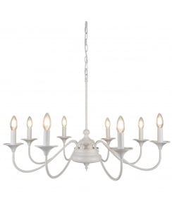 Searchlight Elizabethan   Chandelier 6178-8WH