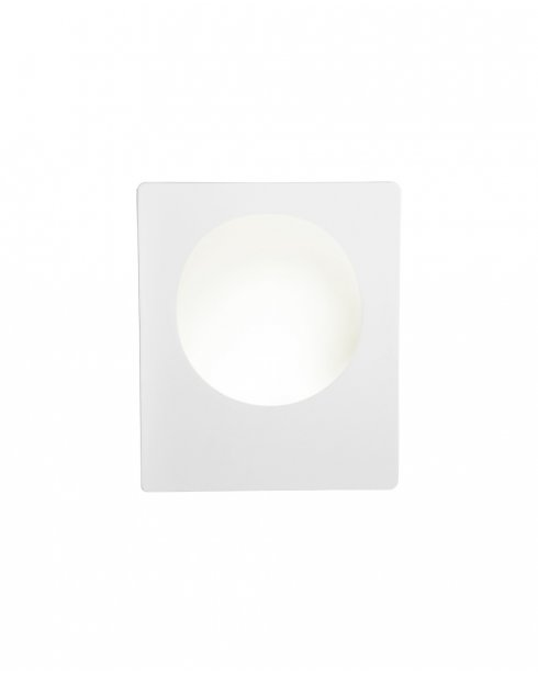 Searchlight Gypsum Single Light Modern Recessed Wall Light 8791