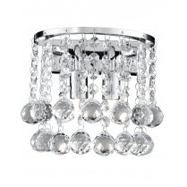 Searchlight Hanna 2 Light Crystal Decorative Wall Light 2402-2CC