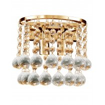 Searchlight Hanna 2 Light Crystal Decorative Wall Light 2402-2GO