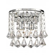 Searchlight Hanna 2 Light Crystal Decorative Wall Light 3302-2CC