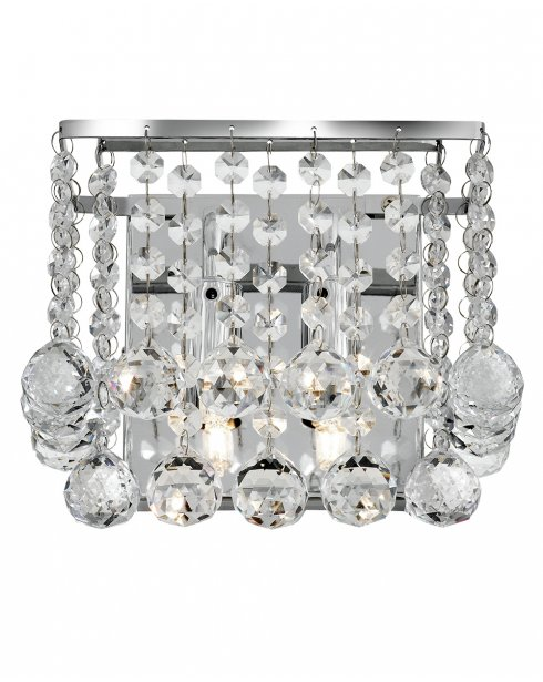 Searchlight Hanna 2 Light Crystal Decorative Wall Light 5402-2CC